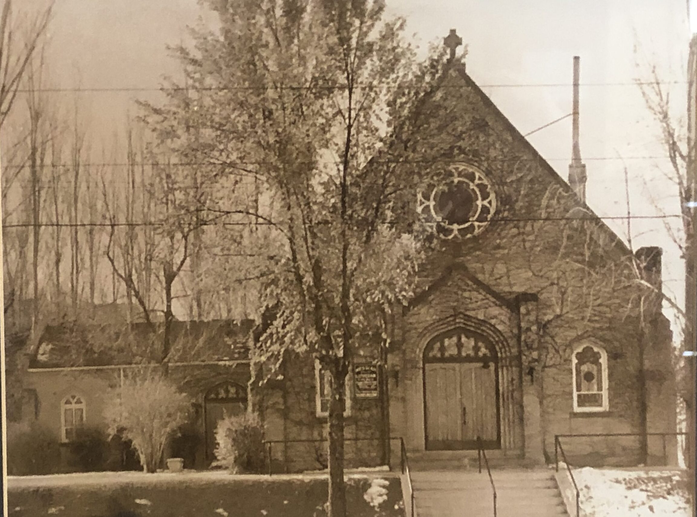 Original church building at Elizabeth and Colfax in Denver